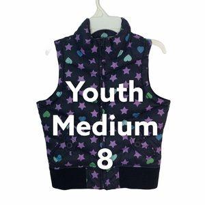 Gap Girl Youth 8 YM Puffer Vest Coat Jacket Hearts